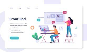 frontend-development-web-banner-concept-website-interface-improvement-developer-looking-graph-illustration_277904-2906